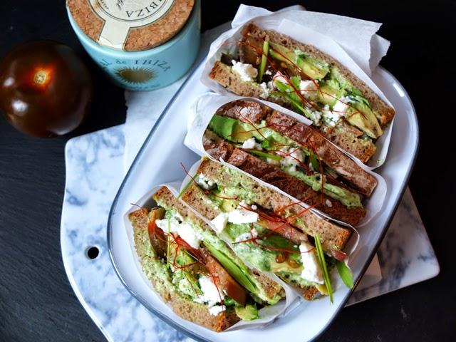 Projekt Zuckerfrei - Avocado Sandwich mit Feta