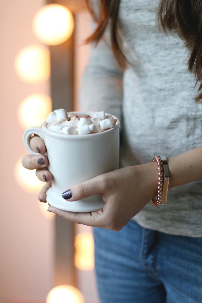 Heißer Kakao mit Marshmallows