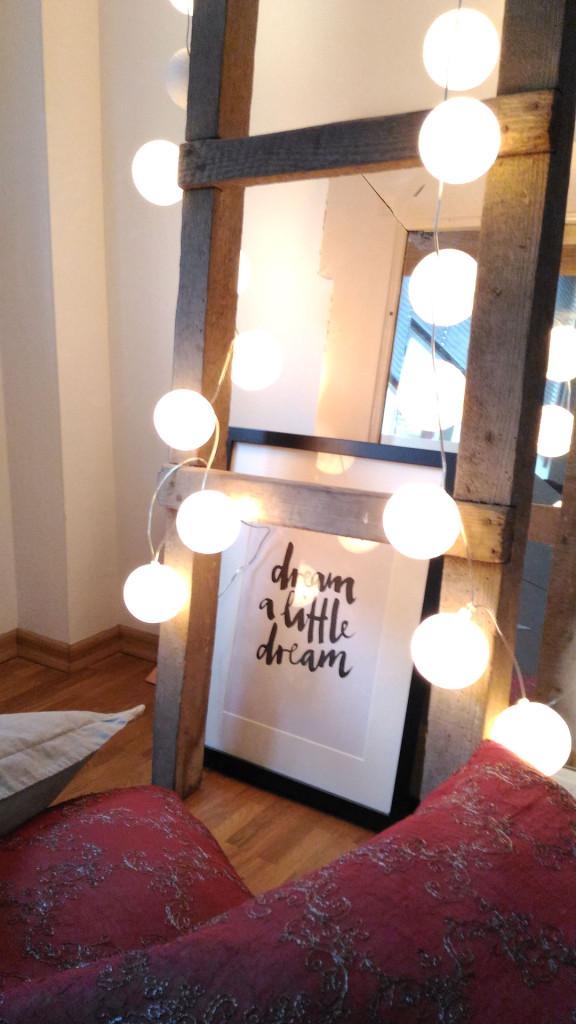 Bild mit Spruch dream a little dream