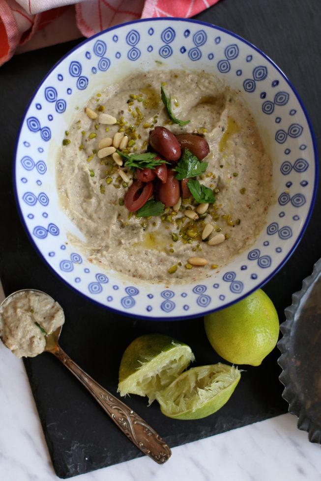 Tomaten-Focaccia mit Babaganoush