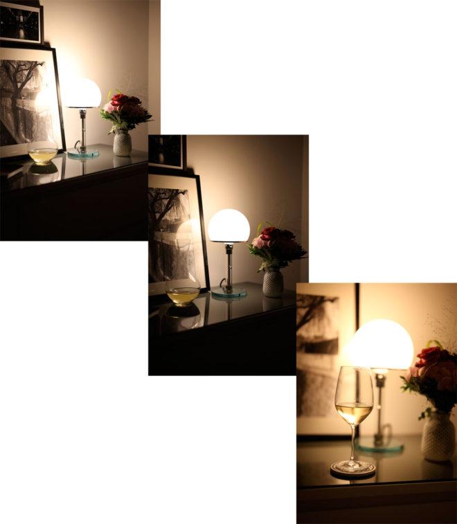 Geburtstagsessen mit Philips SceneSwitch LED-Lampe