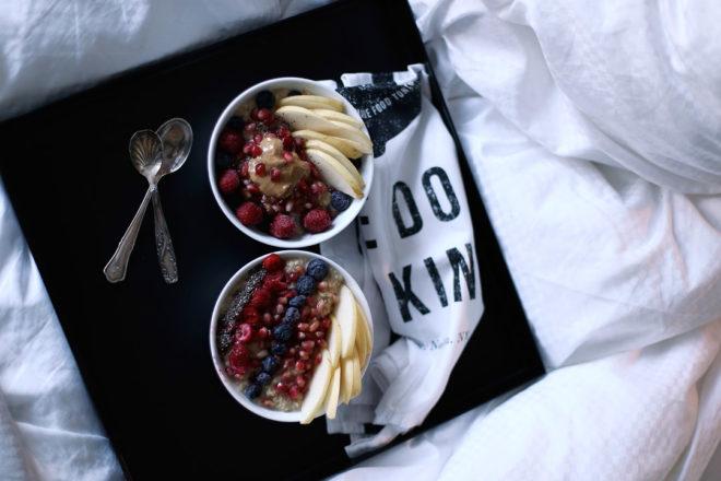 Rezept Quinoa-Porridge mit Nashi-Birne und Beeren, Quinoaporridge, Quinoa Porridge