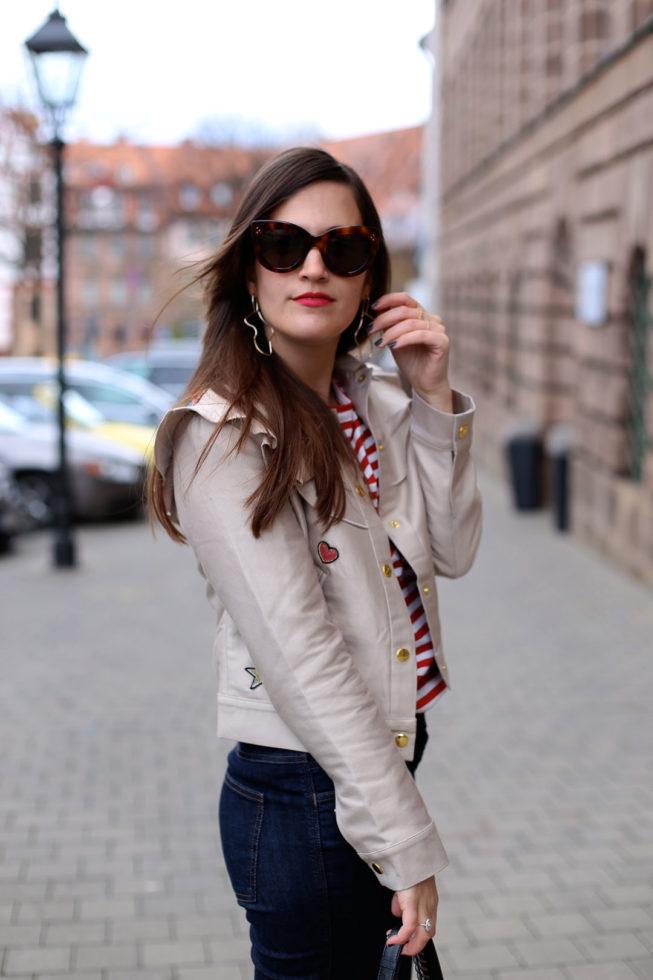 Comme Des Garcons Streifenshirt, Celine Caty Sonnenbrille