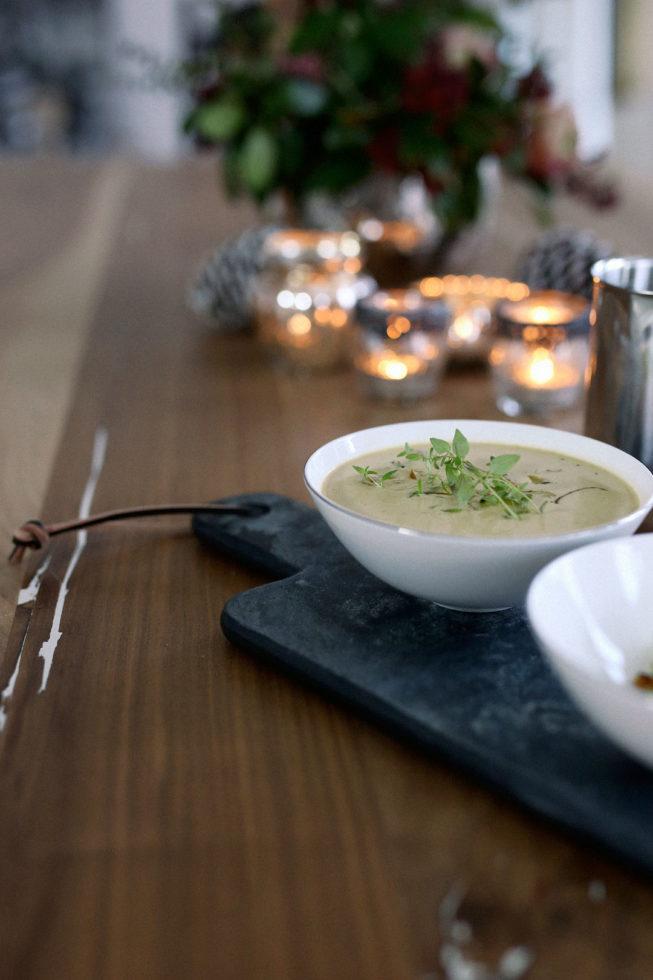 Rezept Cremige Maronensuppe mit Thymian