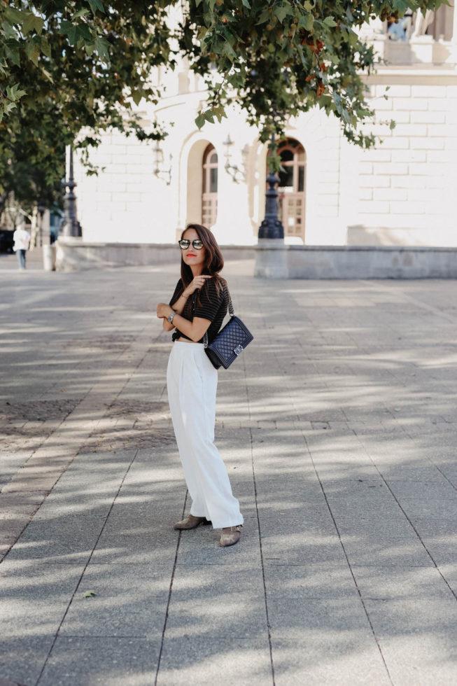 Meine Sommer-Uniform | Die perfekte weiße Palazzo Hose
