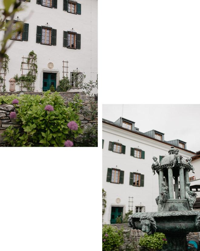 Innenhof auf Schloss Mittersill