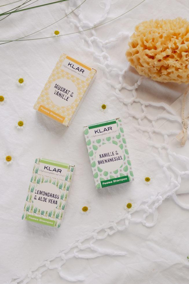 Plastikfreies Badezimmer, Festes Shampoo ohne Plastik von Klar Seifen