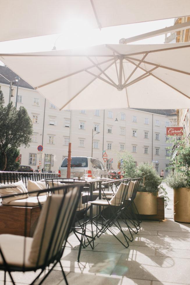 Außenterrasse im The Guesthouse Vienna