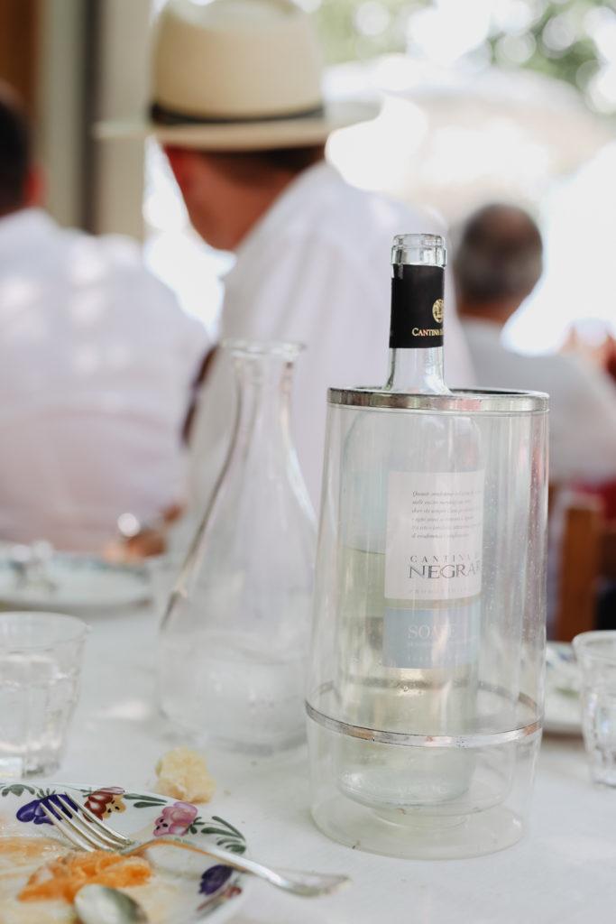 Wein in der Locanda dell'Isola am Comer See