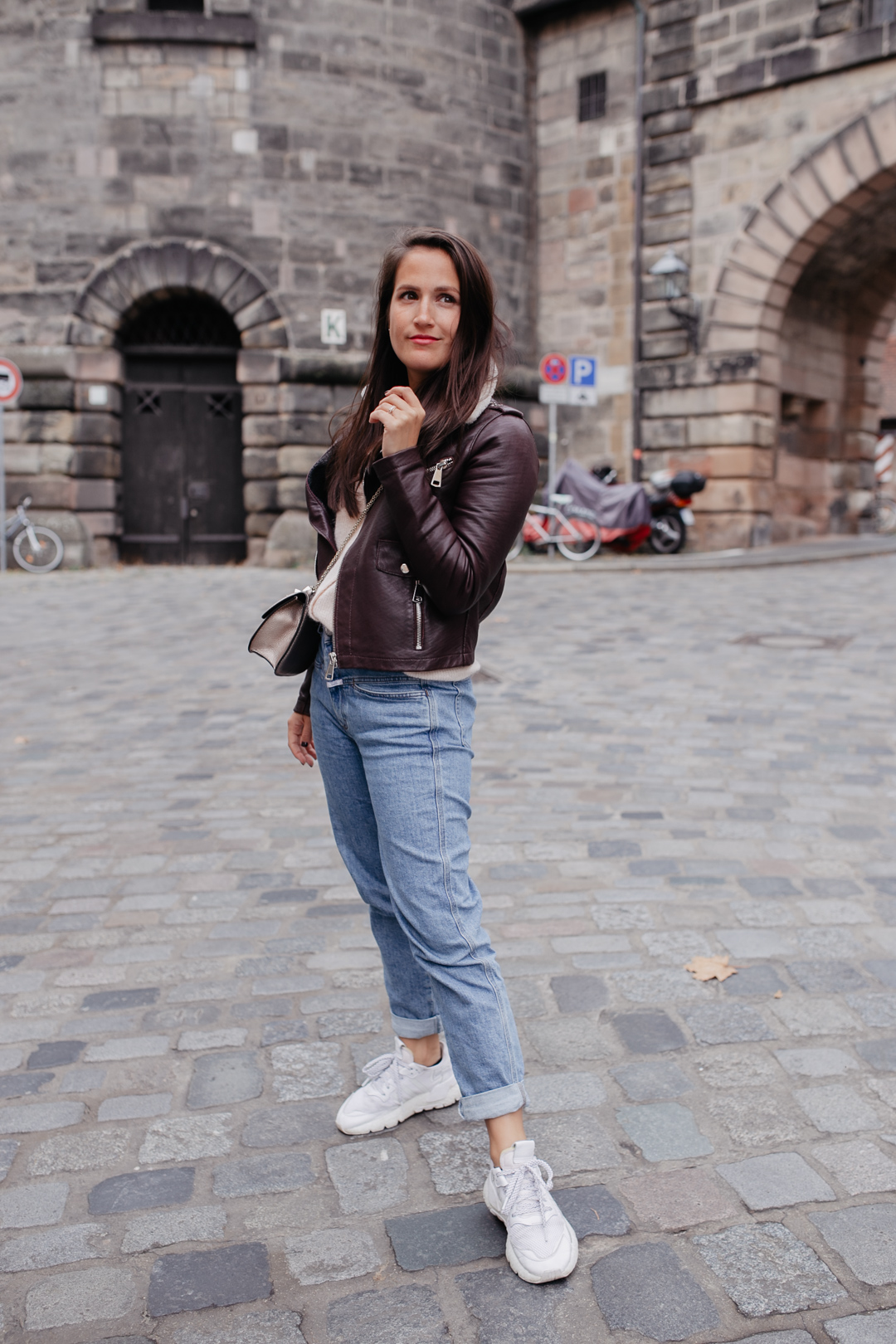 Herbstliches Outfit mit Maje Lederjacke - Pieces of Mariposa // Fashion & Lifestyle Blog Nürnberg