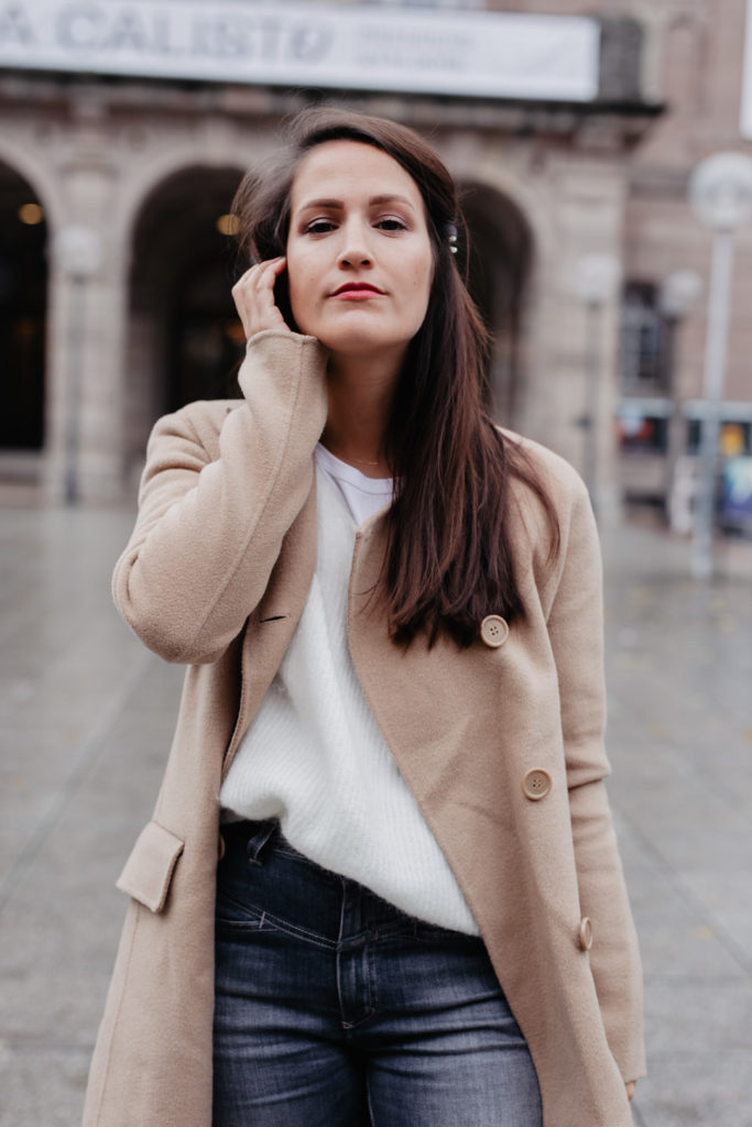 Winterlook mit Camel Coat
