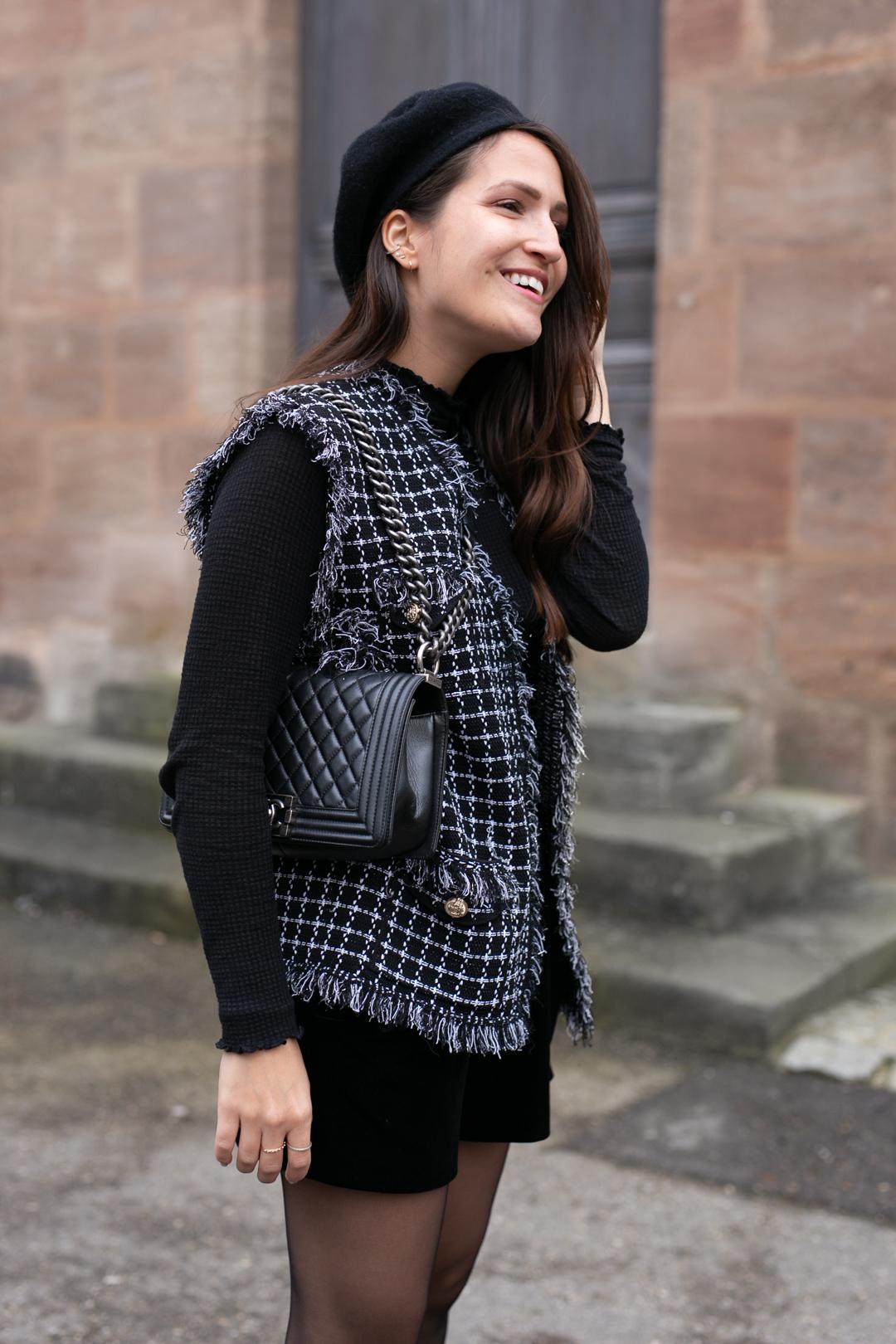 Outfit mit Beret - www.piecesofmariposa // Fashion & Lifestyle Blog Nürnberg