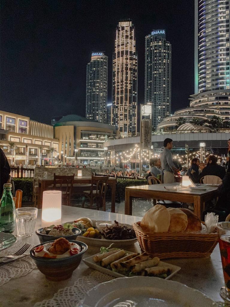 Abendessen im Zahr El-Laymoun in Dubai