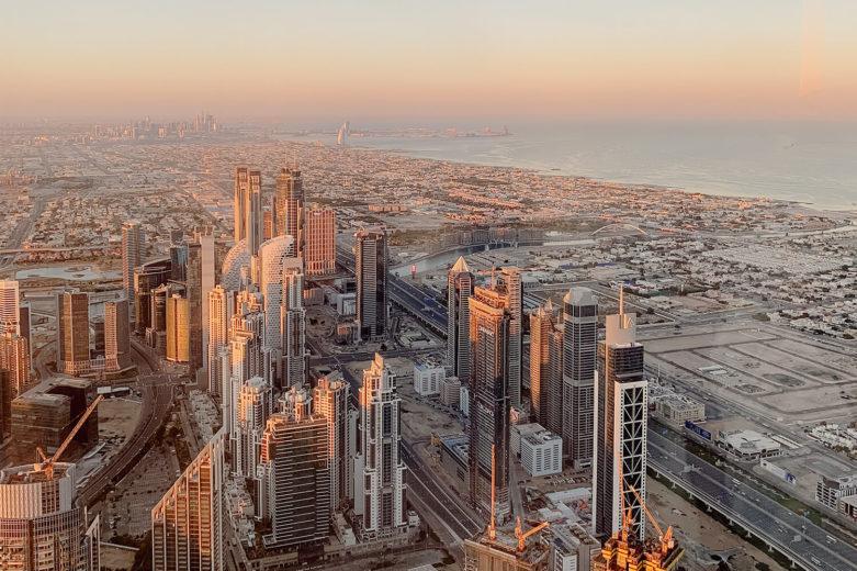 Sonnenaufgang vom Burj Khalifa