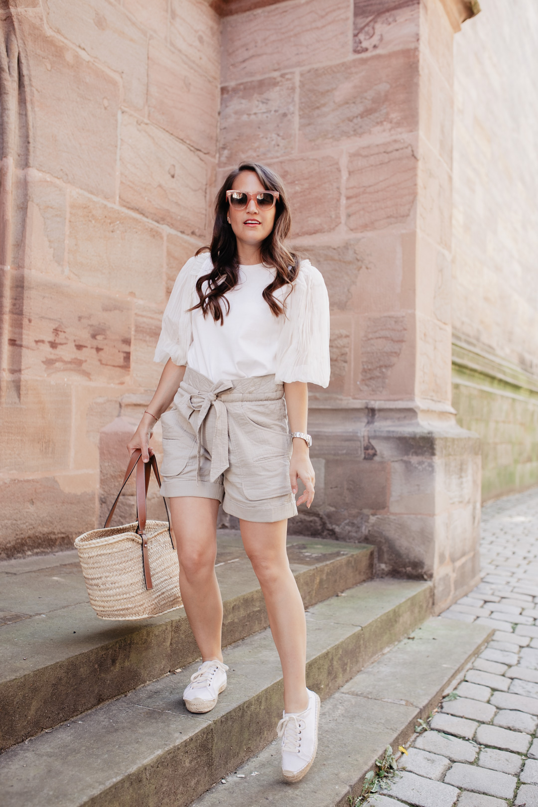 Outfit mit Isabel Marant Belize Shorts // Pieces of Mariposa