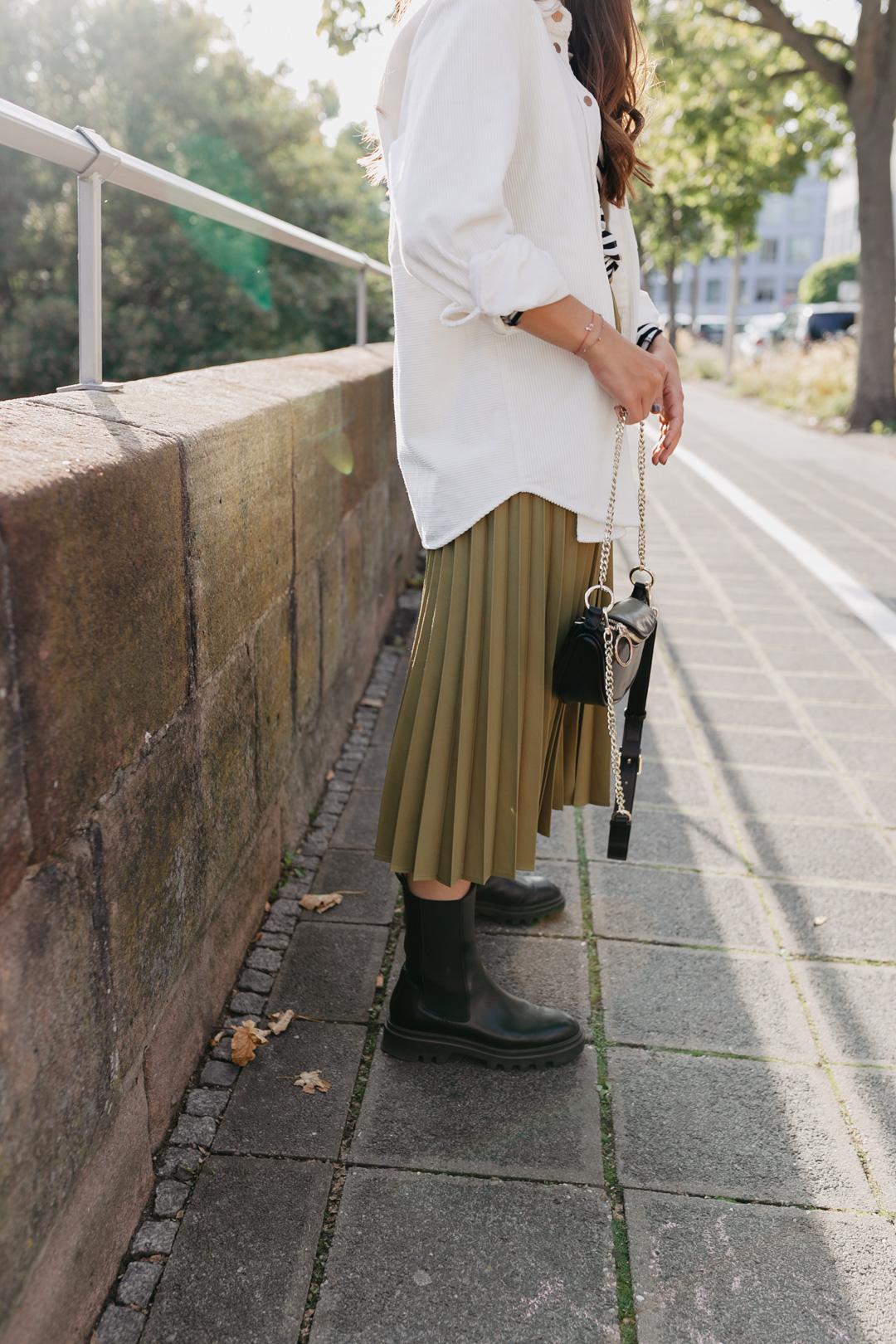 Outfit mit Chunky Boots