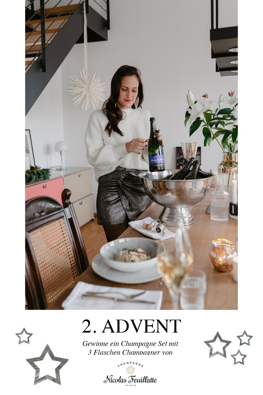 Seid ihr noch auf der Suche nach einer Essensidee für Weihnachten? Wir wäre es z.B. mit einem Thymian Risotto mit gebratener Forelle? Begleitet wird das Menü von einem Champagner, denn die Franzosen machen es uns vor & trinken den Schaumwein nicht nur als Aperitiv, sondern als prickelnde Essensbegleitung. Das Rezept findet ihr auf www.piecesofmariposa.com.